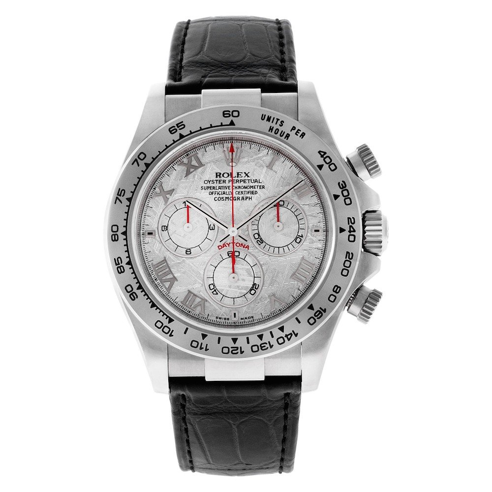 White Gold Daytona ref. 116519 with Meteorite Dial