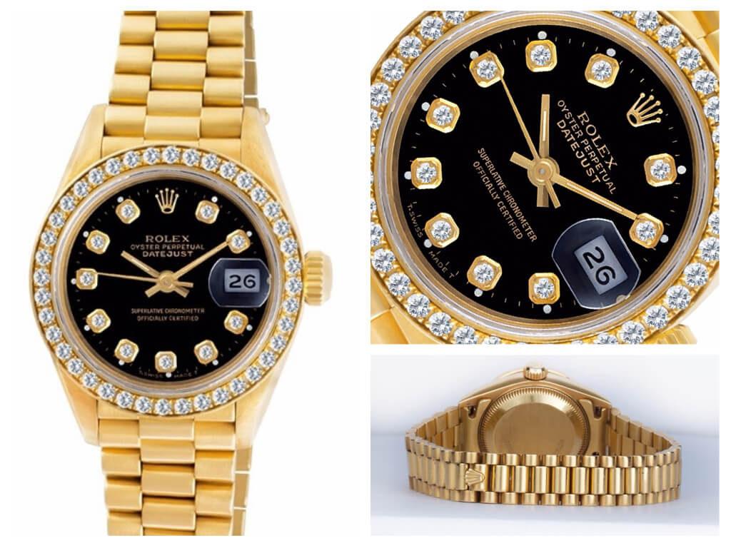Diamond Rolex Datejust President ref. 69178