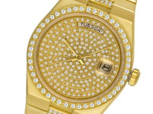 Yellow gold and diamond Rolex Oysterquartz Day-Date