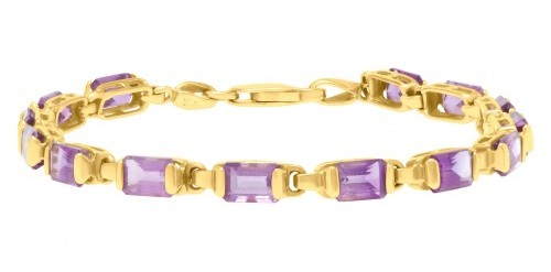 Fine Jewelry for Less than $1000: Amethyst and yellow gold bracelet