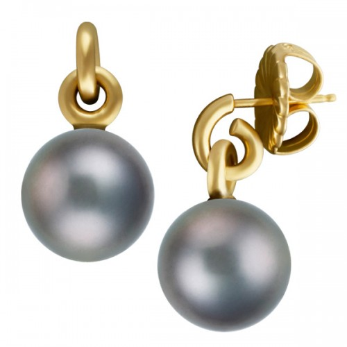 Fine Jewelry for Less than $1000: Black pearl earrings