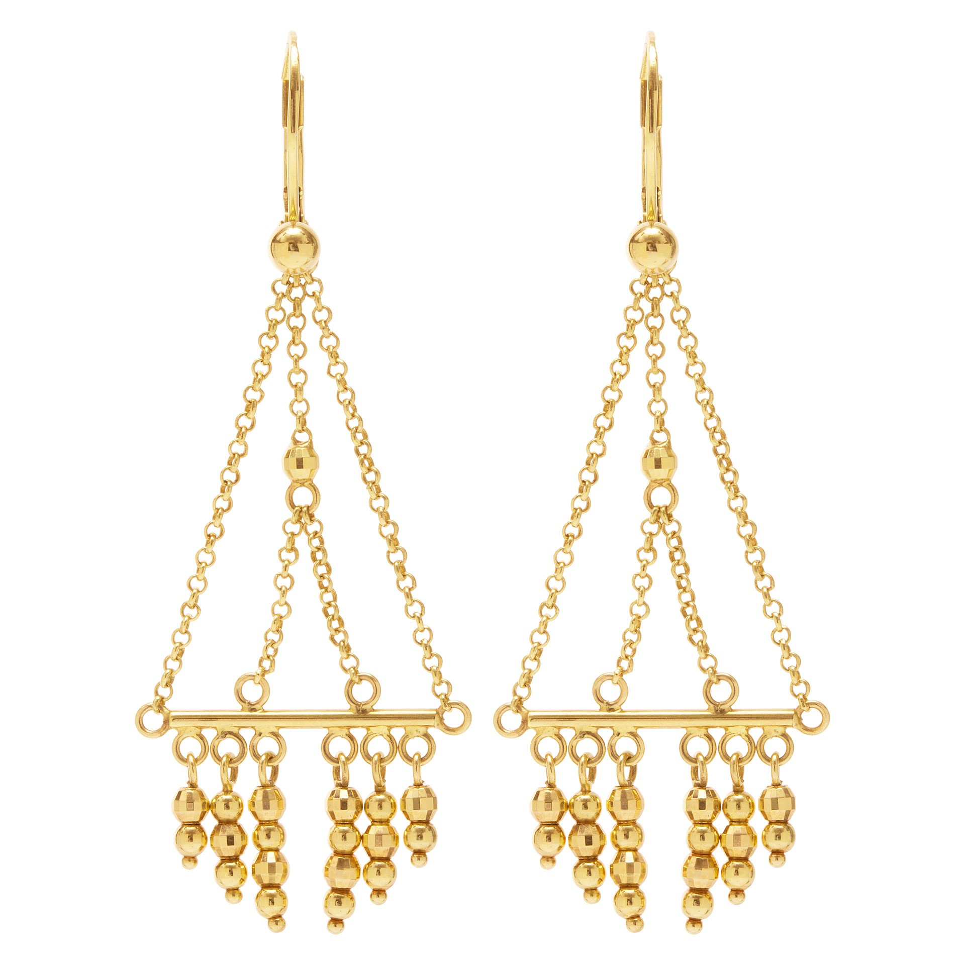 Fine Jewelry for Less than $1000: Gold dangling earrings