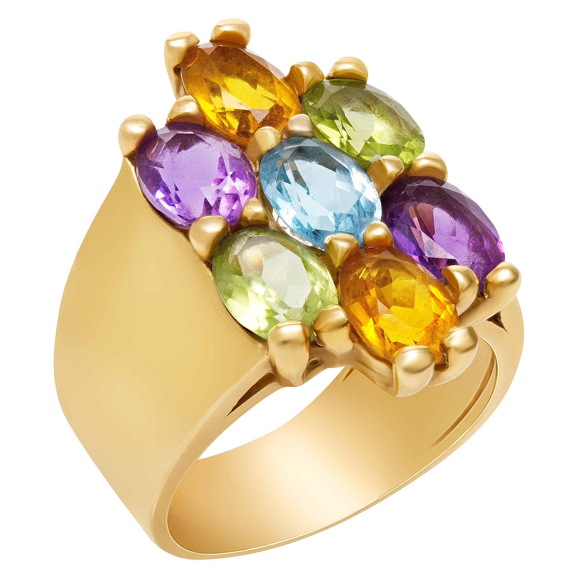 Fine Jewelry for Less than $1000: Semi-precious stones and yellow gold ring