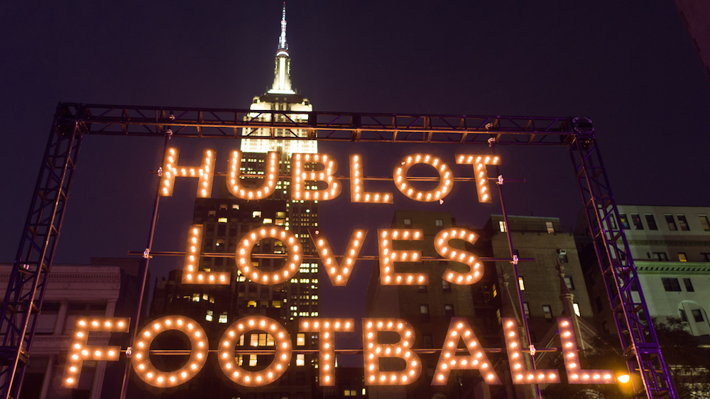 Hublot announced a partnership with the New York Giants in 2016 and now Eli Manning joins Hublot