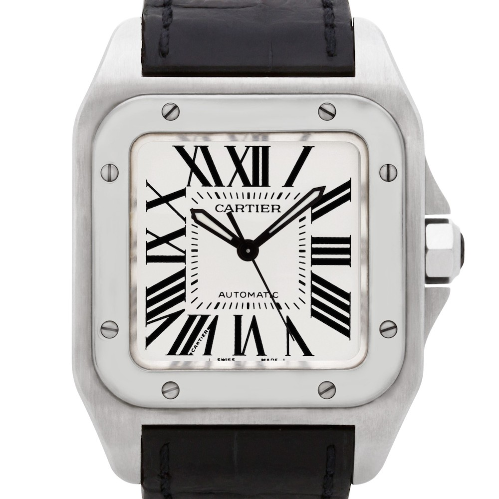 Men's Valentine's Day Gifts: Cartier Santos 100