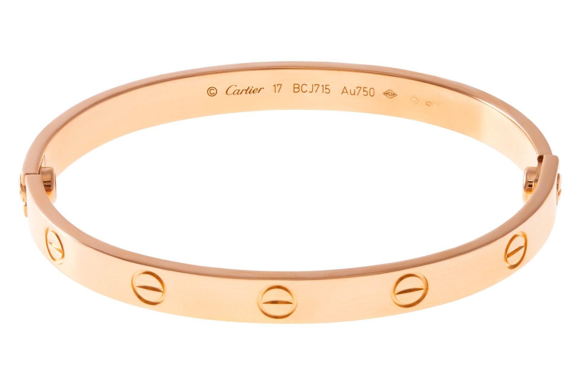 Valentine's Day Designer Jewelry Gifts: Cartier Love Bracelet