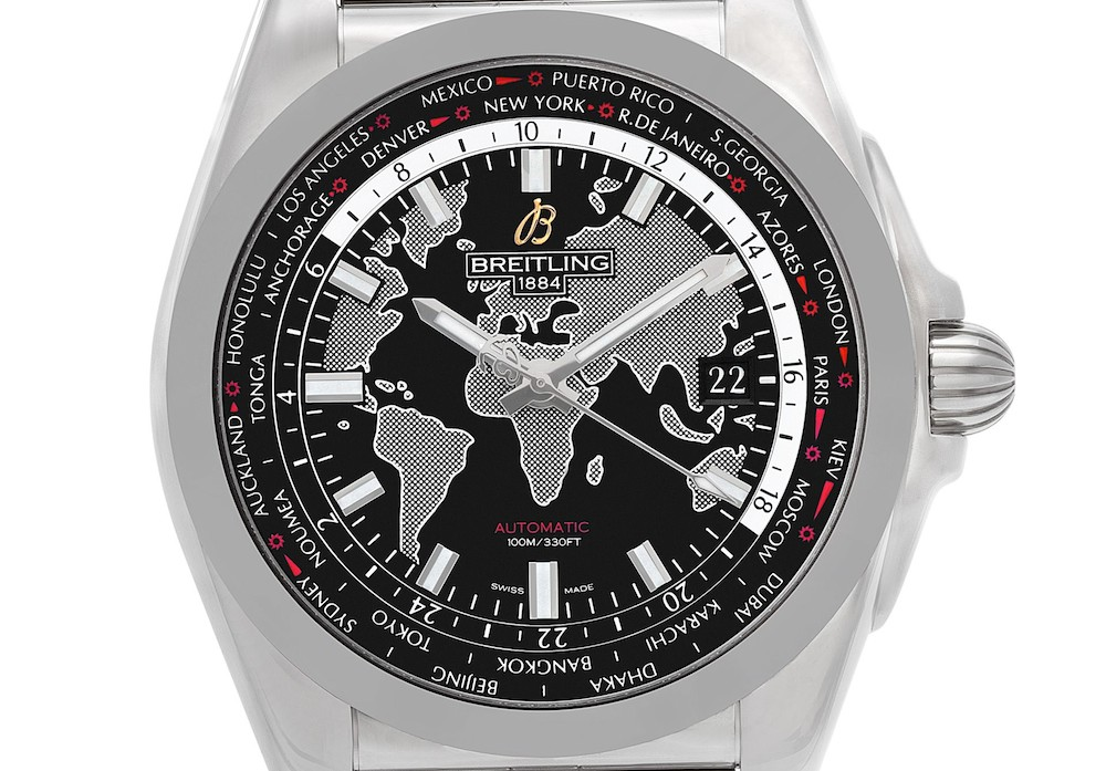 A world timer watch allows wearers to tell the time in all 24 time zones simultaneously