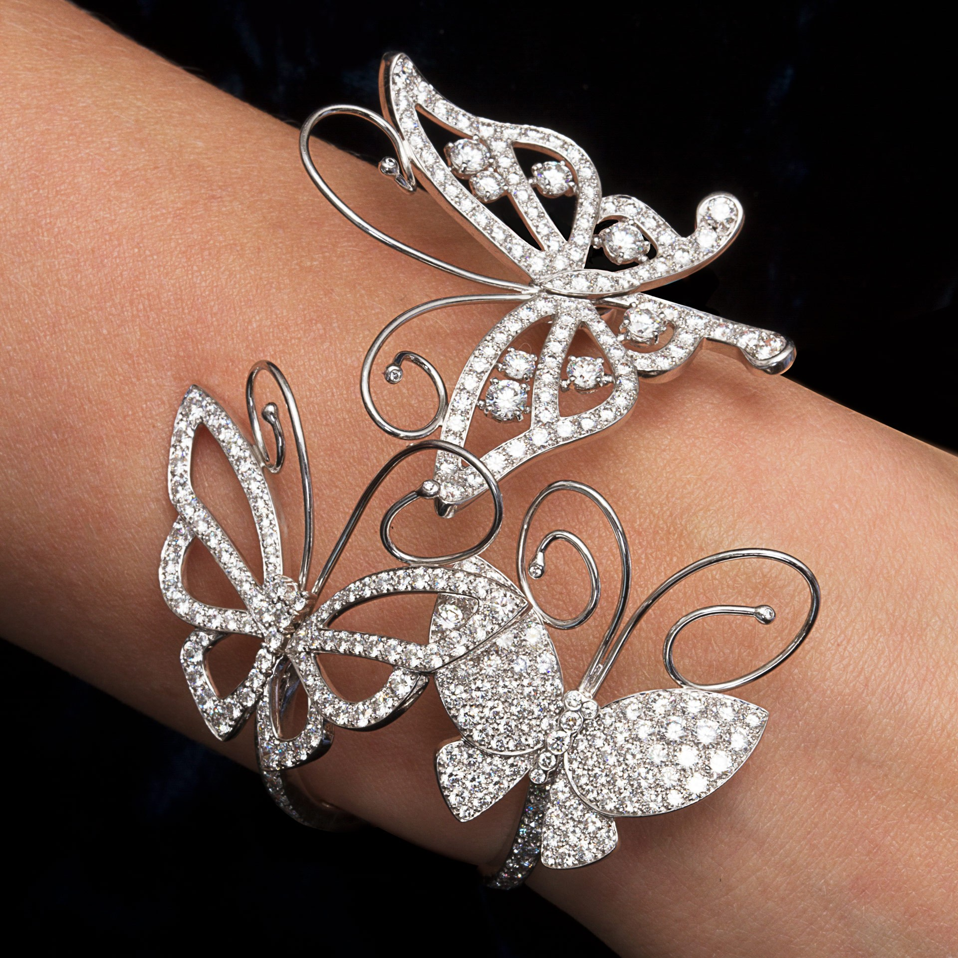 Butterfly Bracelet Cuff by Van Cleef & Arpels Jewelry
