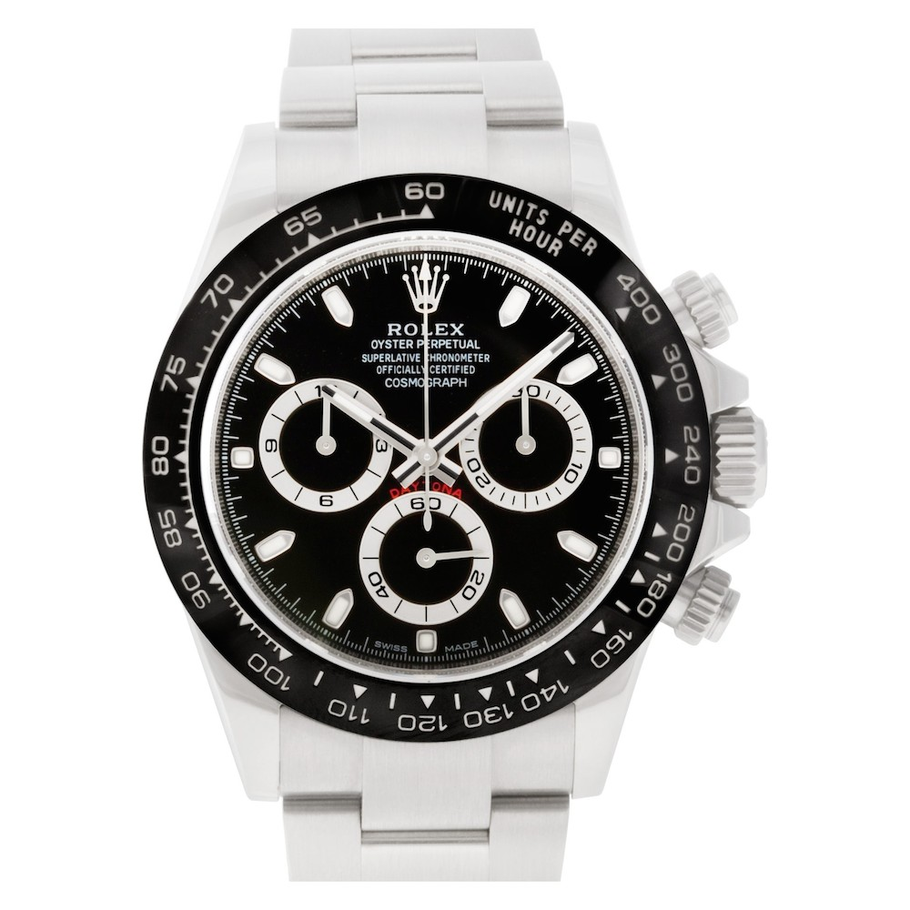 The stainless steel and ceramic Daytona 116500LN is currently one of the most coveted chronographs in the market