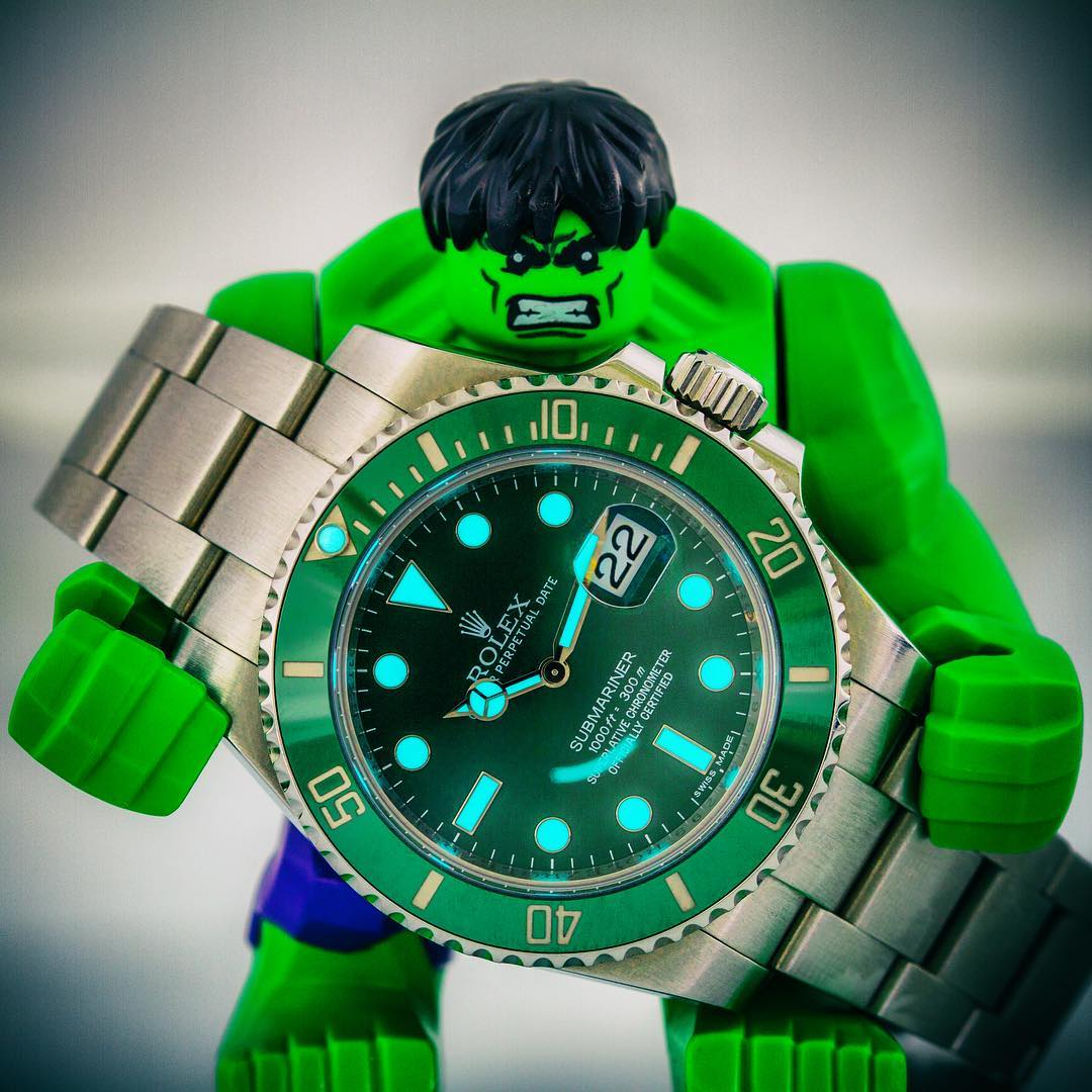 Green Rolex Watches: Submariner 116610LV Hulk