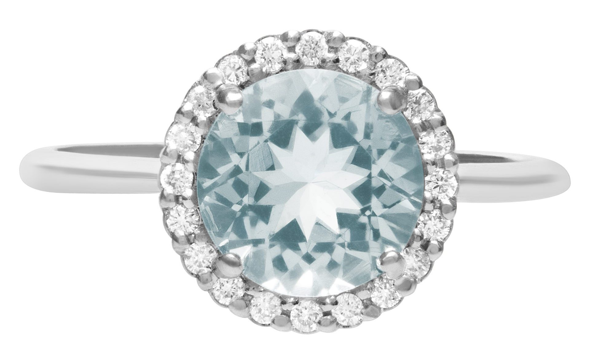 Aquamarine can range from light green to vibrant blue