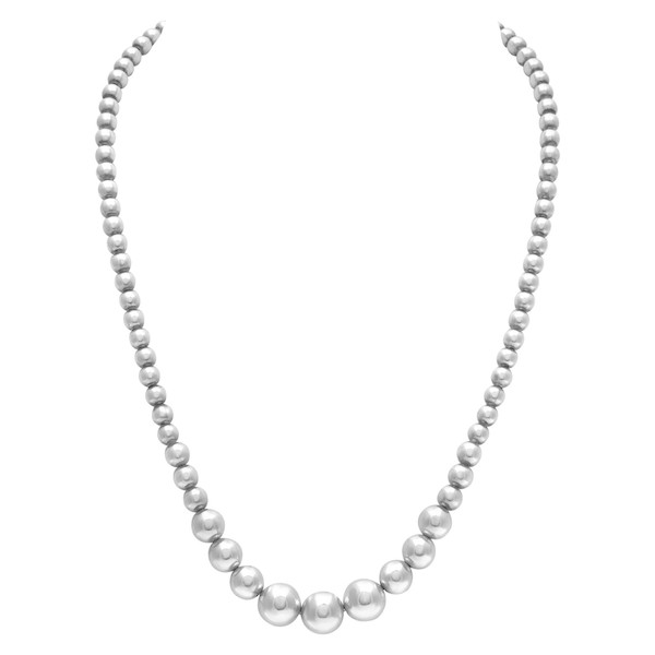 Pre-Owned Silver Tiffany & Co. HardWear Ball Necklace
