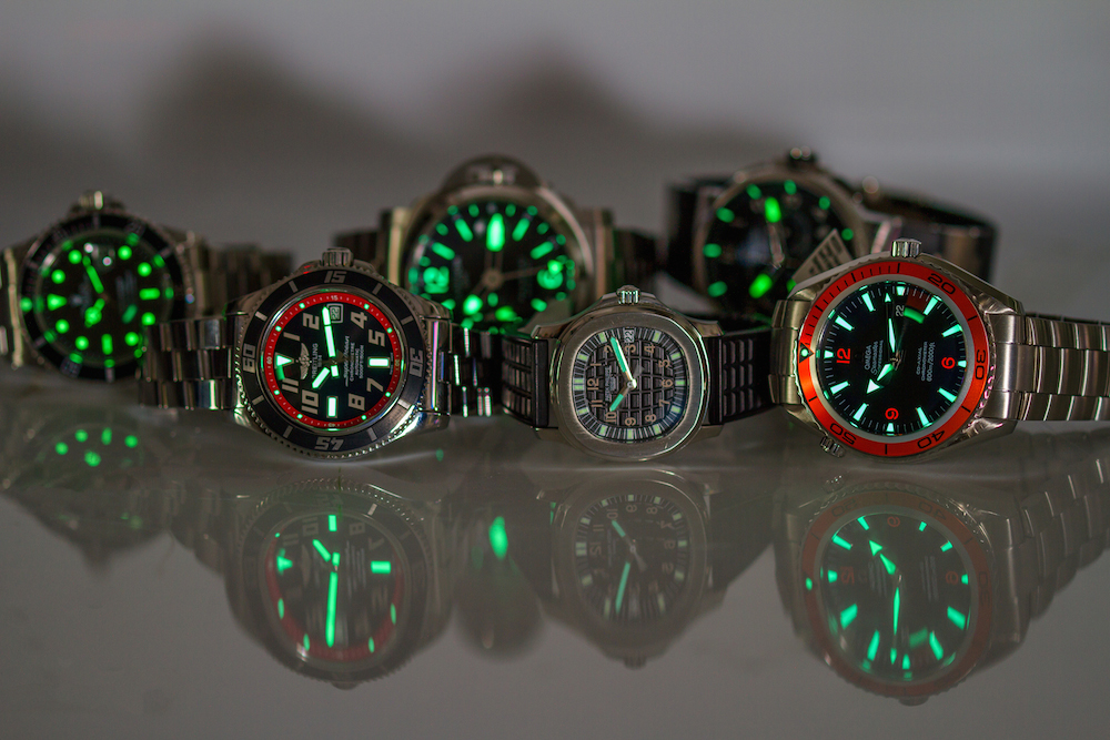 Strong lume is very important on a dive watch