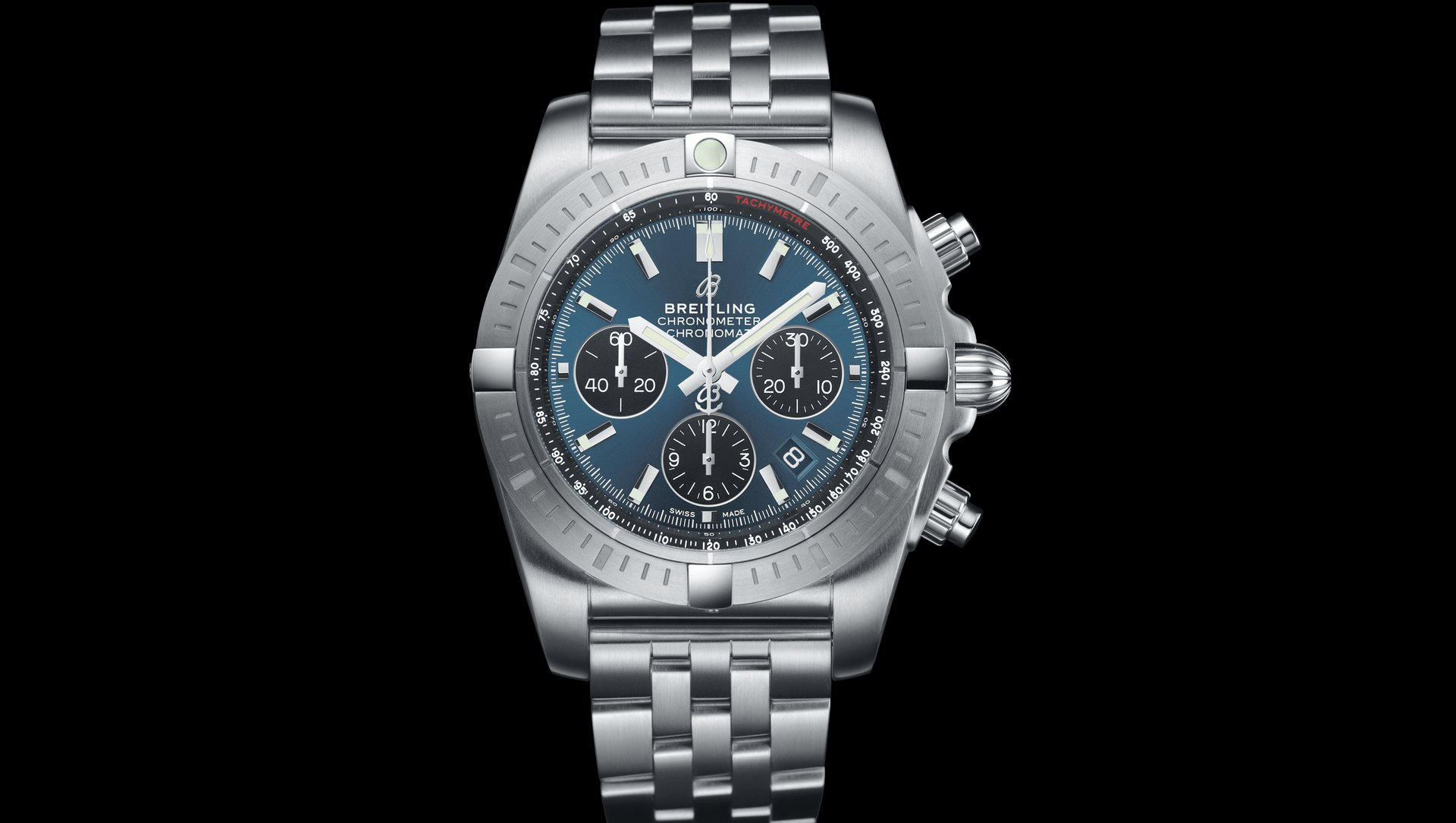 Breitling Chronomat B01 44 Chronograph with Blackeye Blue dial (Image: Breitling)
