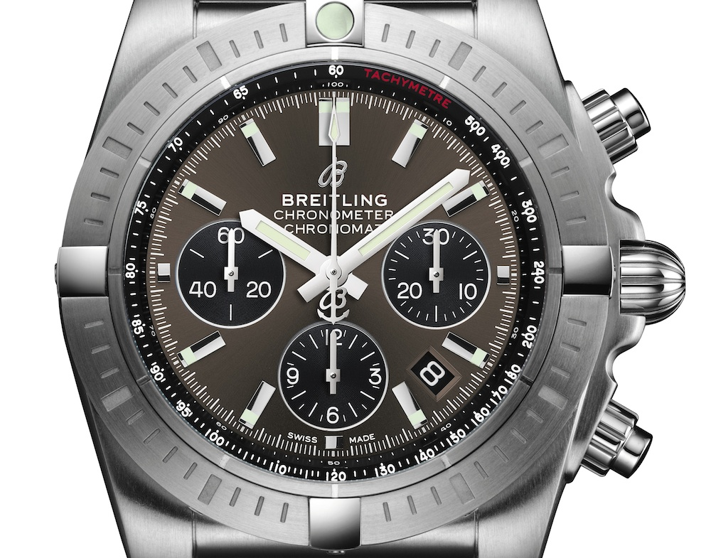 Breitling Chronomat B01 44 Chronograph with Blackeye Gray dial (Image: Breitling)
