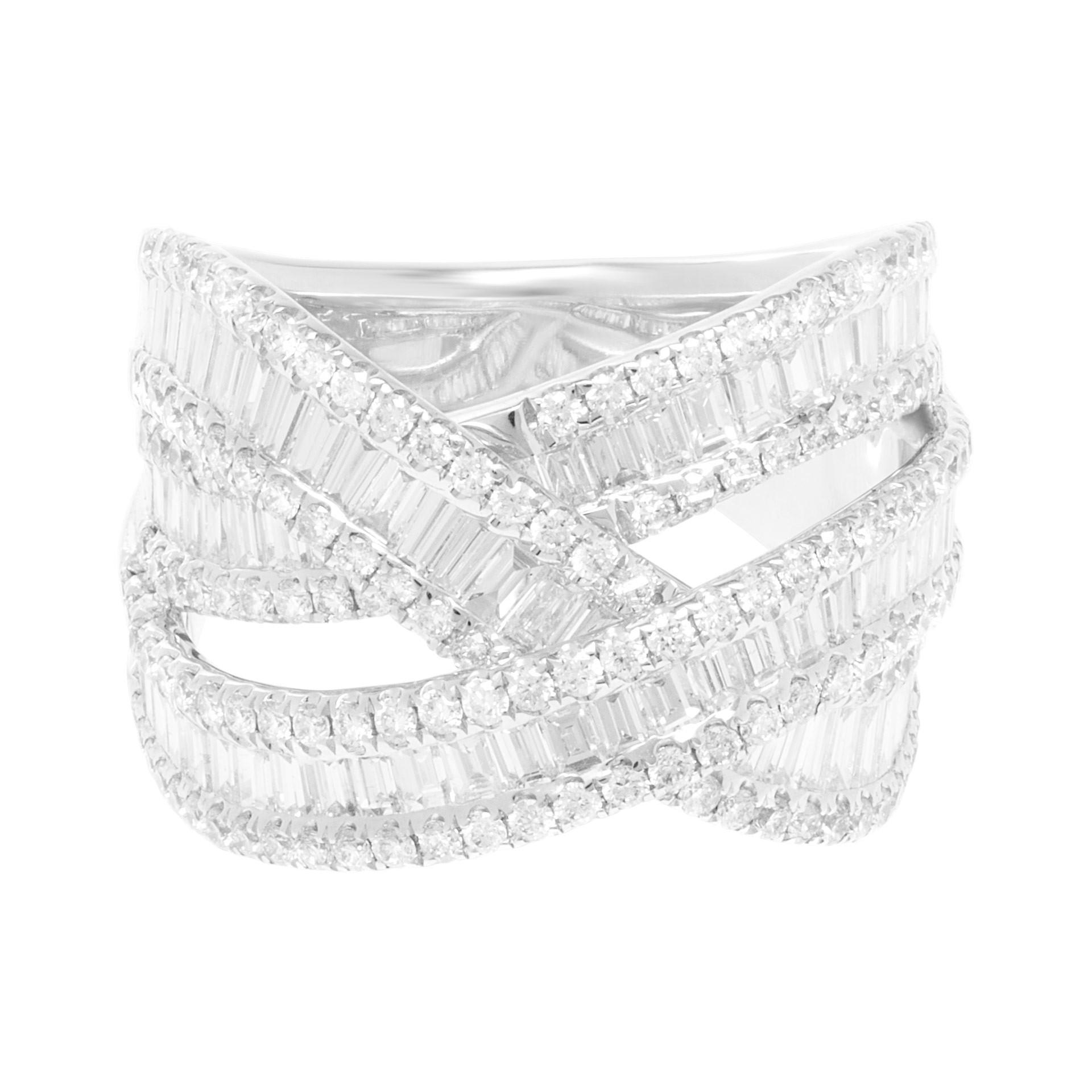 April Birthstone Diamond jewelry: Braided Diamond Ribbons Ring