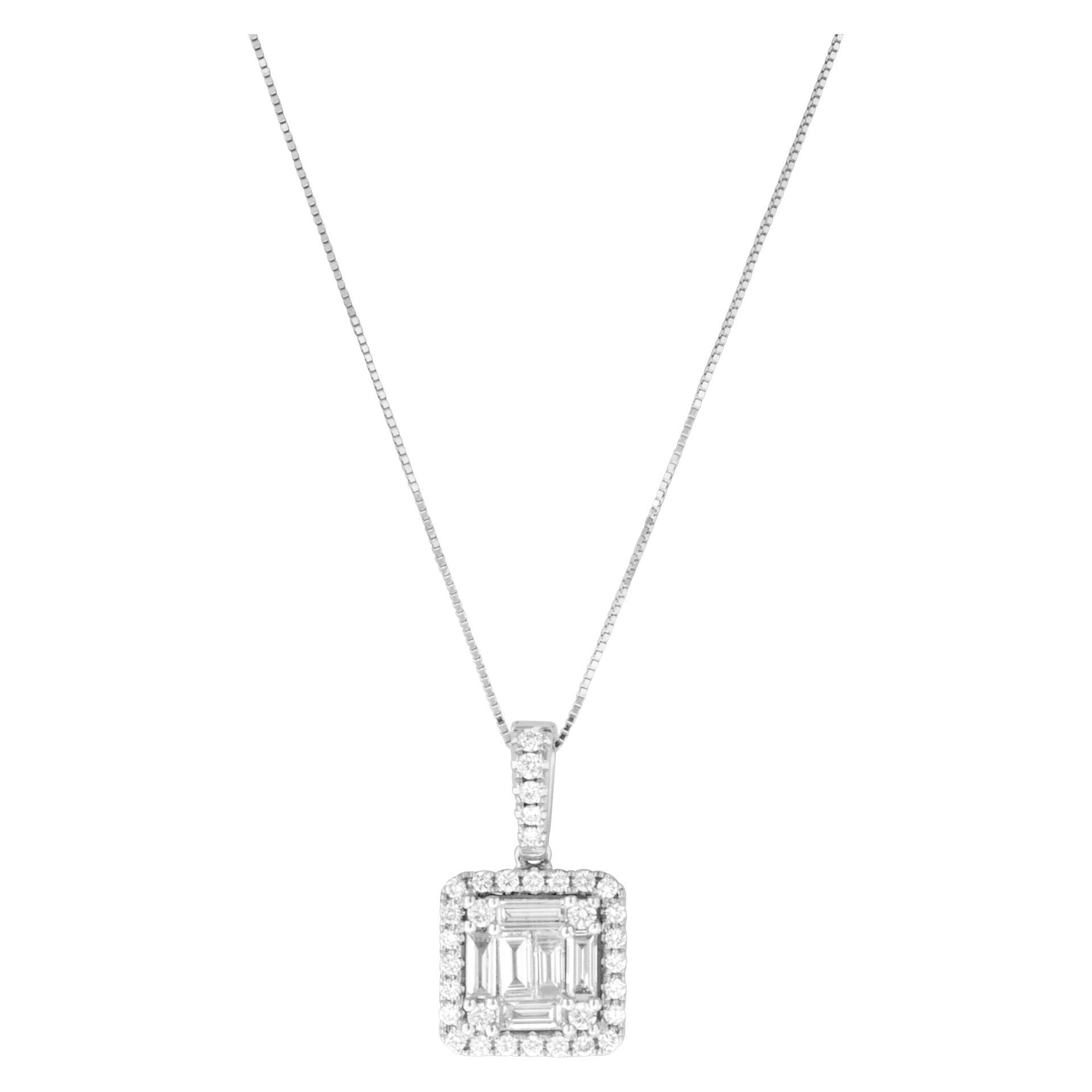 April Birthstone Diamond jewelry: Diamond Pendant