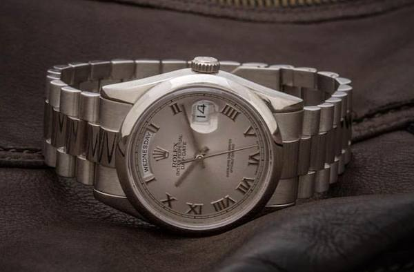 Match the metal of your Rolex Day-Date watch with your Cartier Love, or don't.