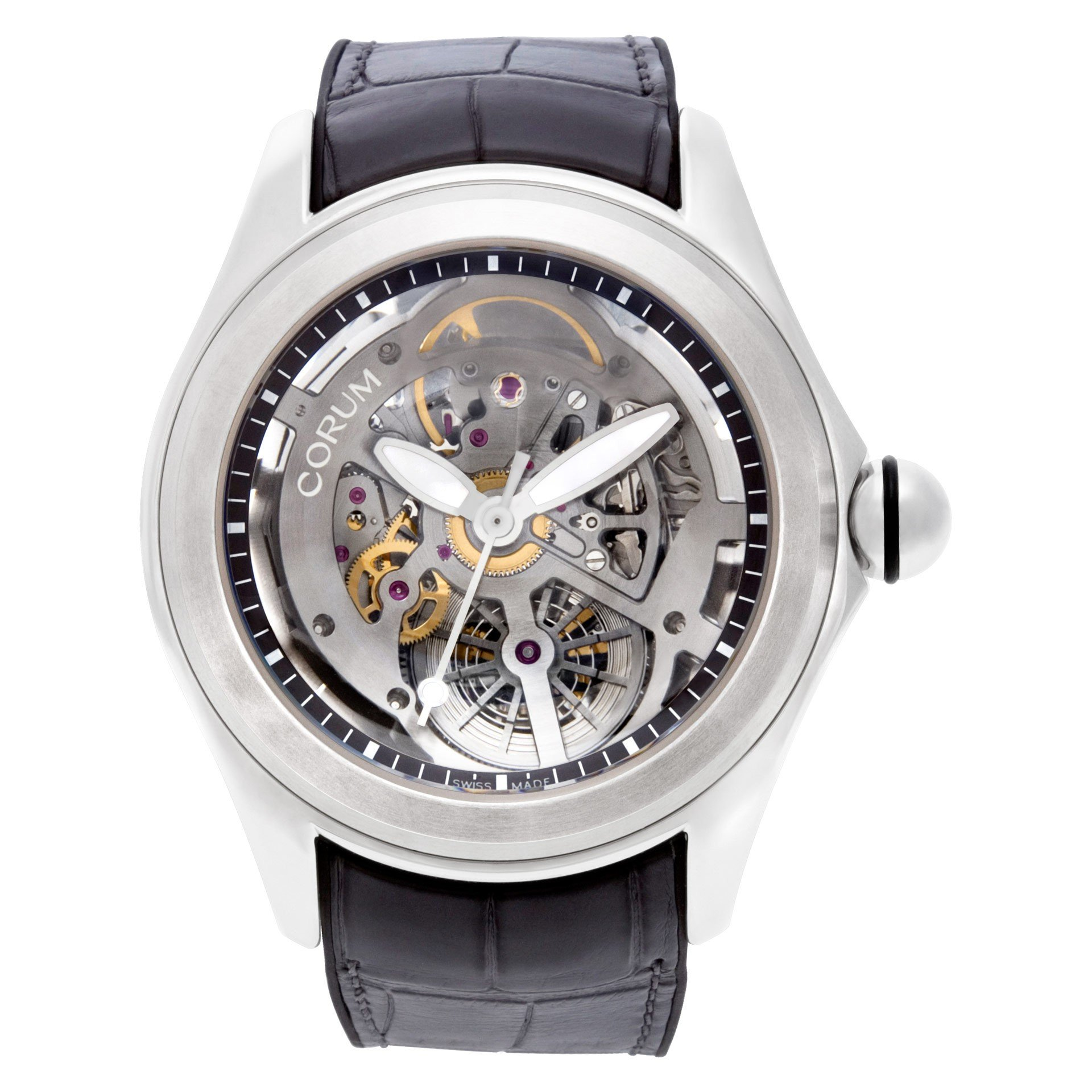 What is a skeleton watch? Corum Bubble 47 Squelette