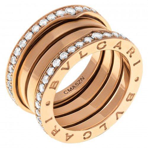 Rose gold and diamond Bulgari B.zero1 ring