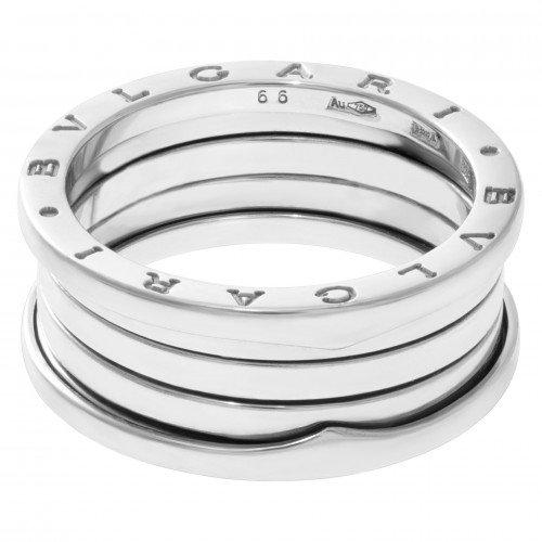 Four-Band White Gold Bulgari B.zero1 Ring