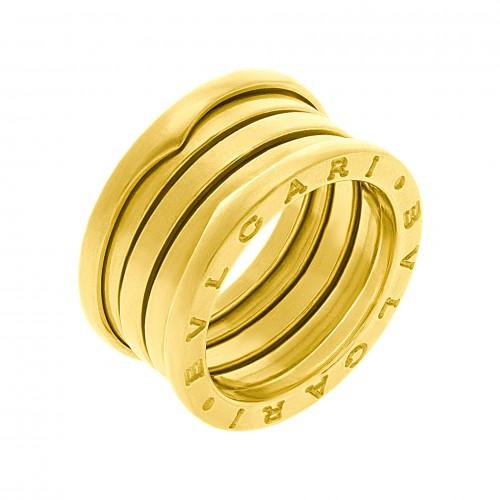Four-Band Yellow Gold Bulgari B.zero1 Ring