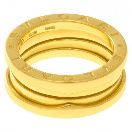 Three-Band Yellow Gold Bulgari B.zero1 Ring