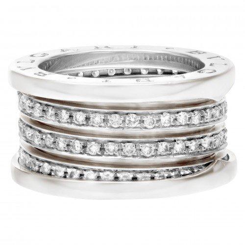 White gold and diamonds Bulgari B.zero1 ring