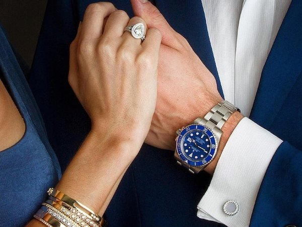 Ceramic Watches: White gold Rolex Submariner with blue ceramic bezel