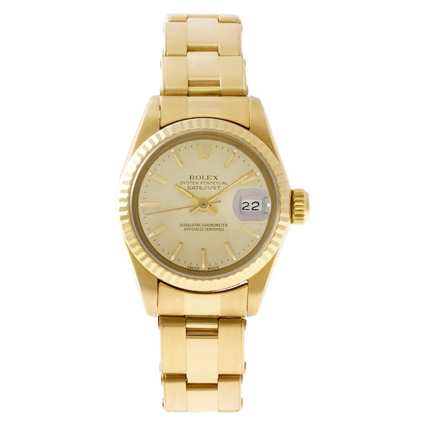Ladies Rolex Watch: Yellow Gold Datejust 6917