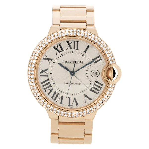 Pink Gold and Diamond Cartier Ballon Bleu
