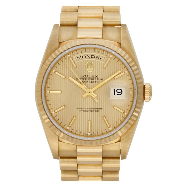 Yellow gold Rolex Day-Date 18238