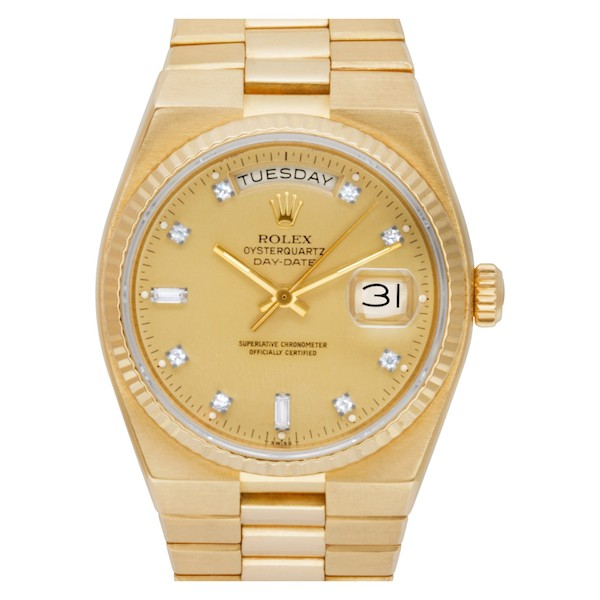Yellow gold Rolex Day-Date Oysterquartz 19018