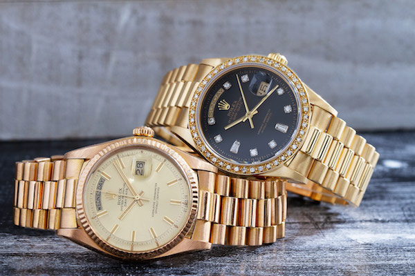 The History and Evolution of the Rolex Day-Date President: L-R 1803 and 18038