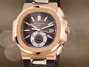Rose Gold Patek Philippe Nautilus 5980R-001