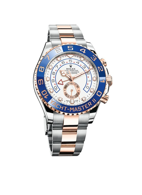 The updated Everose two tone Rolex Yacht-Master II 116681 with new design details