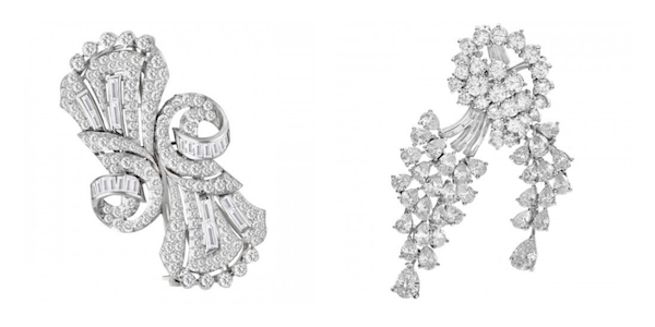 Jewelry Trends Brooch: Platinum Diamond Pins