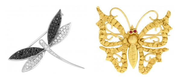 Jewelry Trends Brooch: Firefly & Butterfly Pins
