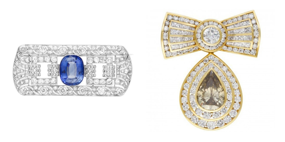 Jewelry Trends Brooch: Art Deco Style Pin & Kutchinsky Diamond Pin