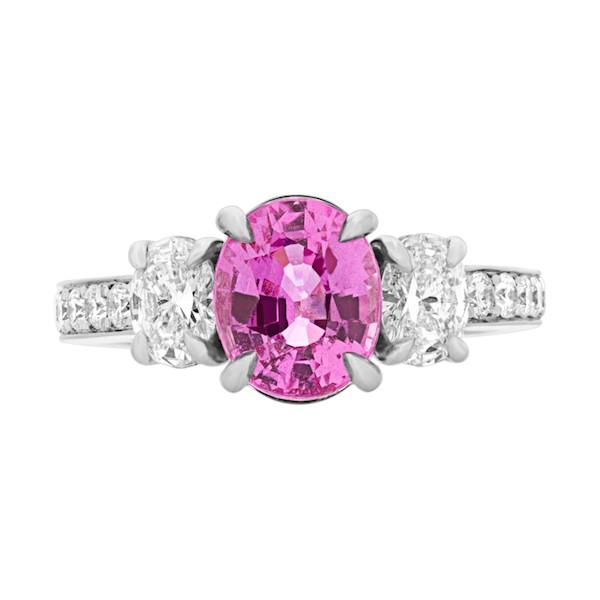 September Sapphire Birthstone Jewelry: Pink Madagascar Sapphire Ring