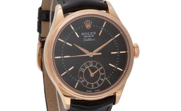 Everose Gold Rolex Cellini Dual time ref. 50525