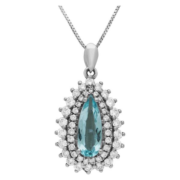 October Birthstone Jewelry: Paraiba Tourmaline Necklace