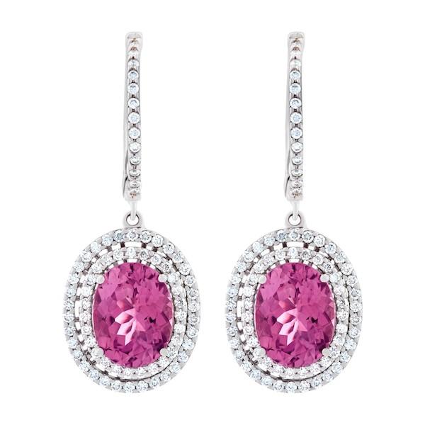October Birthstone Jewelry: Pink Tourmaline Earrings