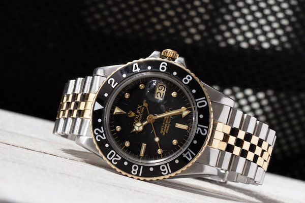 Two-tone Rolex GMT-Master ref. 16753 with nipple dial