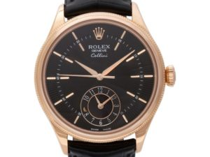 Everose Gold Rolex Cellini Dual time ref. 50525