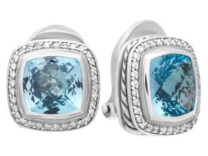 November Birthstone Jewelry: David Yurman Blue Topaz Earrings