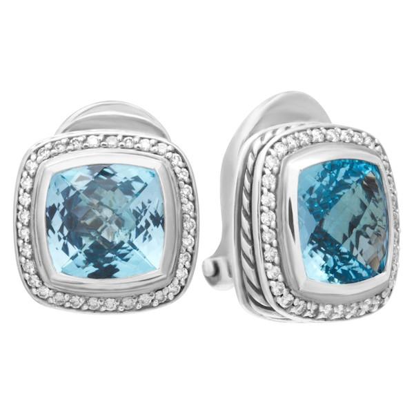 November Birthstone Jewelry: David Yurman Blue Topaz Earrings