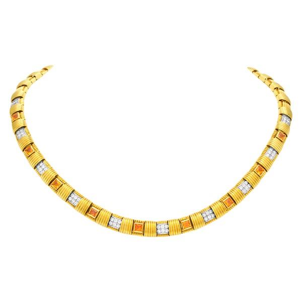Roberto Coin Appassionata Necklace with Citrine