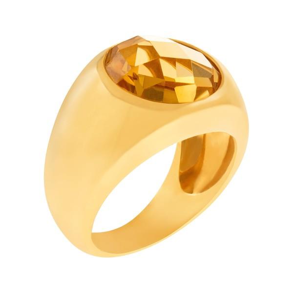 November Birthstone Jewelry: Citrine Yellow Gold Ring