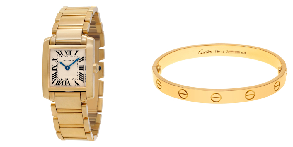 Best Luxury Watch & Designer Watch Pairings: Cartier Tank and Love